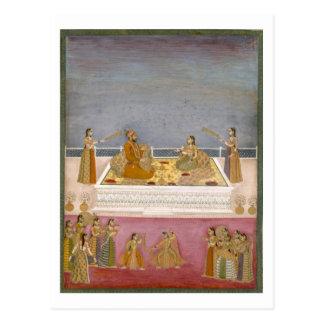 Carte Postale Le jeune empereur de Mughal Muhammad Shah à un
