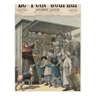 Carte Postale Le jour de nouvelle année à Paris