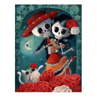 Carte Postale Le jour des amants squelettiques morts