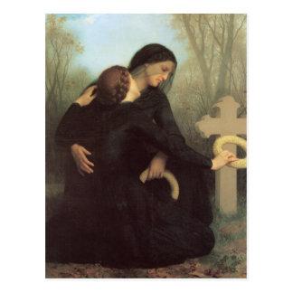 Carte Postale Le jour des morts par William Adolphe Bouguereau