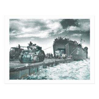 Carte Postale Le jour J de port d'eau profonde de mûre