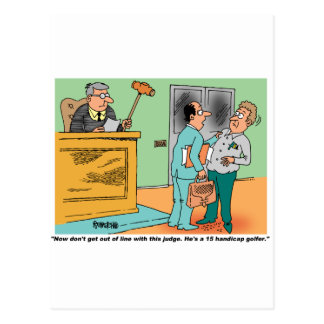 Carte Postale Le juge tient Gavel à long manche