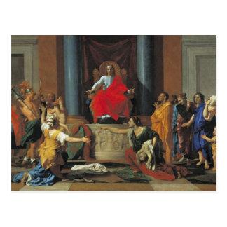 Carte Postale Le jugement de Solomon, 1649