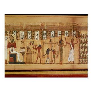 Carte Postale Le jugement d'Osiris, détail