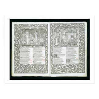 """Carte Postale Le """"Kelmscott Chaucer"""", édité 1896 par le Kel"""