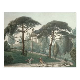 Carte Postale Le labyrinthe ou le belvédère du DES de Jardin