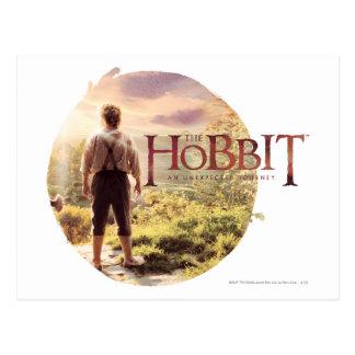 Carte Postale Le logo de Hobbit avec BAGGINS™ soutiennent