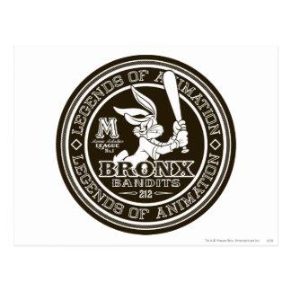 Carte Postale Le logo rond B/W du bombardier de Bronx de ™ de