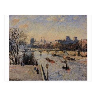 Carte Postale Le Louvre par Camille Pissarro