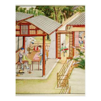 Carte Postale Le magasin de la couturière chinoise