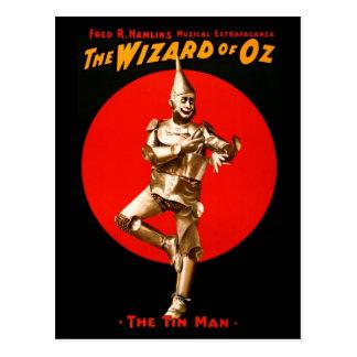 Carte Postale Le magicien d'Oz - affiche théâtrale vintage