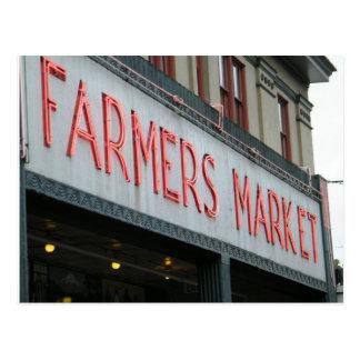 Carte Postale Le marché de l'agriculteur