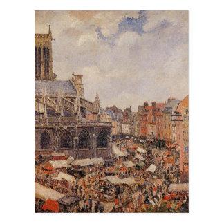 Carte Postale Le marché entourant l'église de Saint-Jacques