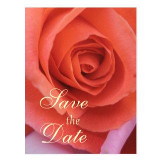 Carte Postale Le mariage couleur pêche s'est levé