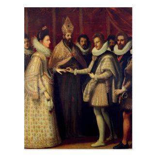 Carte Postale Le mariage de Catherine de Medici