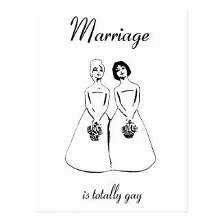 Carte Postale Le mariage est totalement gai - les couples