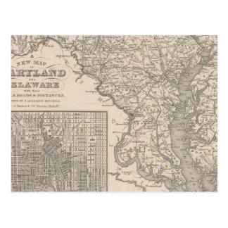 Carte Postale Le Maryland et le Delaware