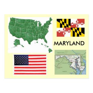 Carte Postale Le Maryland, Etats-Unis