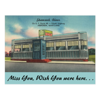 Carte Postale Le Maryland, wagon-restaurant de shamrock