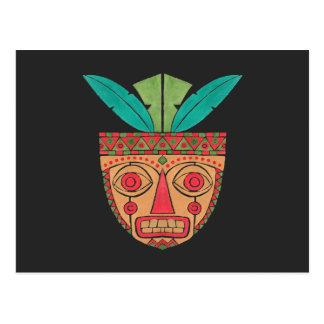 Carte Postale Le masque ethnique
