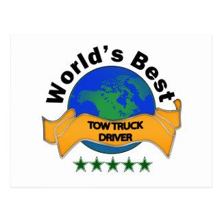 Carte Postale Le meilleur conducteur de dépanneuse du monde