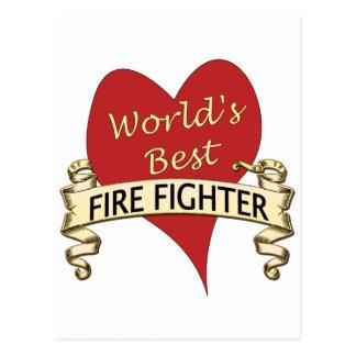 Carte Postale Le meilleur pompier du monde