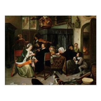 Carte Postale Le ménage dissolu, 1668