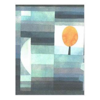 Carte Postale Le messager de l'automne par Paul Klee