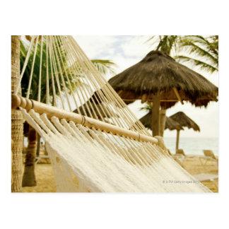 Carte Postale Le Mexique, Playa del Carmen, hamac sur la plage