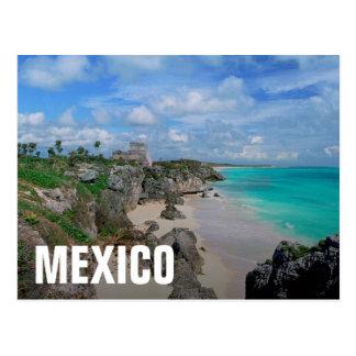 Carte Postale Le Mexique, Yucatan, péninsule, ruines de Tulum,