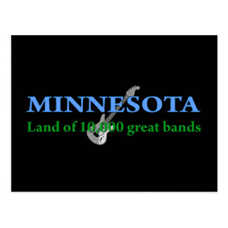 Carte Postale Le Minnesota - terre de 10.000 bandes
