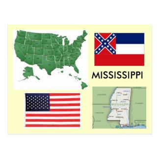 Carte Postale Le Mississippi Etats-Unis