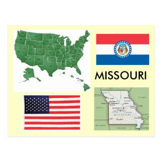 Carte Postale Le Missouri, Etats-Unis