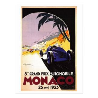 Carte Postale Le Monaco vintage -
