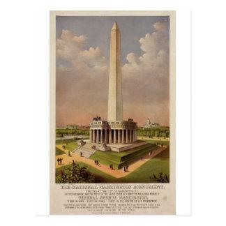 Carte Postale Le monument de Washington national 1885