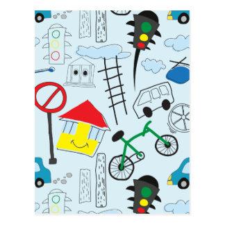 Carte Postale Le motif des enfants - euro enfants de style