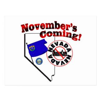 Carte Postale Le Nevada anti venir d'ObamaCare - de novembre !