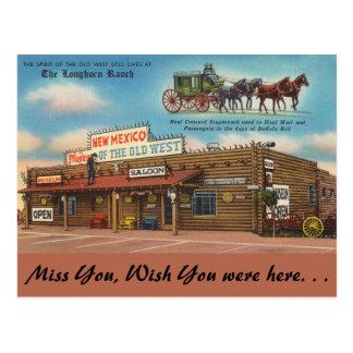 Carte Postale Le Nouveau Mexique, le ranch de Longhorn, vieux