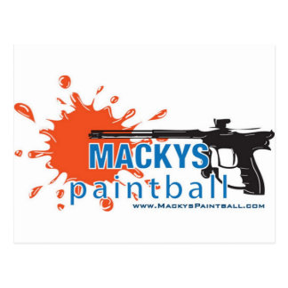 Carte Postale Le Paintball de Macky