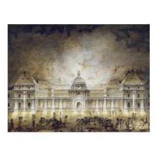 Carte Postale Le palais du luxembourgeois illuminé