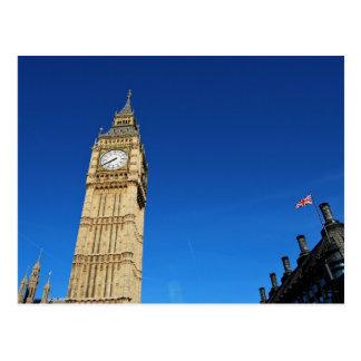 Carte Postale Le Parlement Big Ben et Flag.JPG