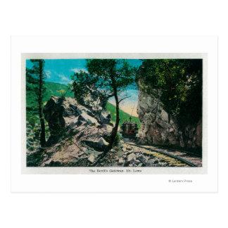 Carte Postale Le passage du diable, Mt. LoweMt. Lowe, CA