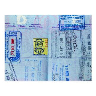 Carte Postale Le passeport emboutit le plan rapproché