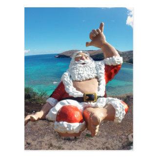 Carte Postale Le père noël à la baie Hawaï de Hanauma