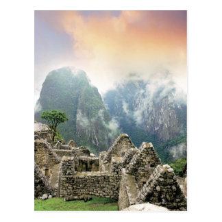 Carte Postale Le Pérou, Machu Picchu, la ville perdue antique de
