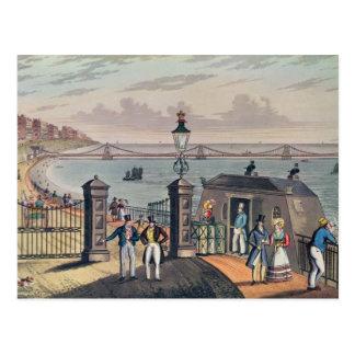 Carte Postale Le pilier à chaînes sur l'avant à Brighton