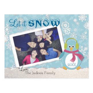 """Carte Postale Le pingouin frais """"l'a laissé neiger"""" photo"""