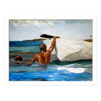 Carte Postale Le plongeur d'éponge par Winslow Homer