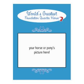 Carte Postale Le plus grand cheval de quart de base des mondes