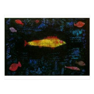 Carte Postale Le poisson rouge par Paul Klee